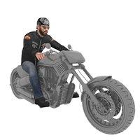 rigged biker 3D