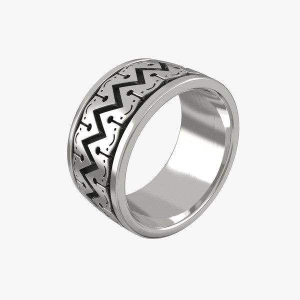 3D ring stl printing model
