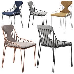 riflessi piuma chair 3D model