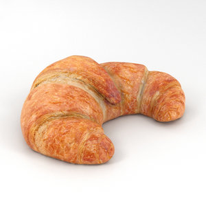 3D croissant food model
