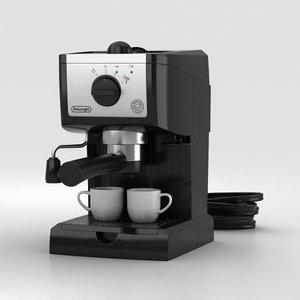 delonghi longhi espresso 3D model
