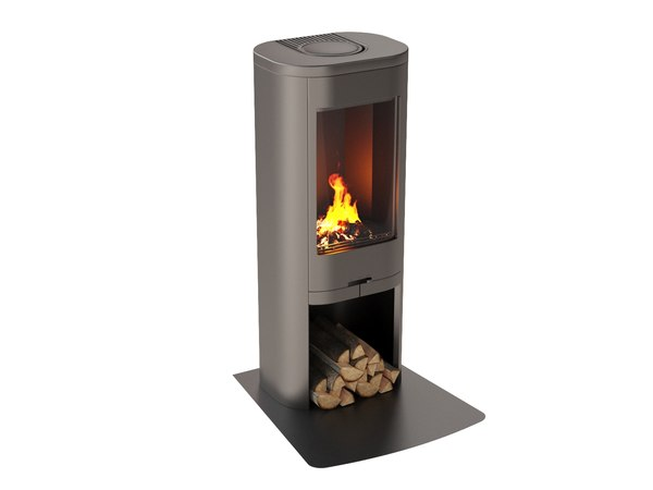 fireplace 04 wood flames model