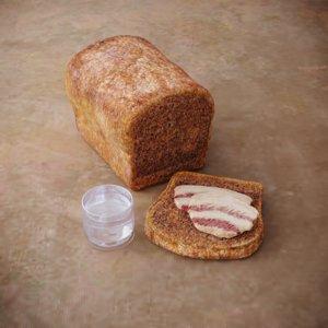 3D slavic bread bacon