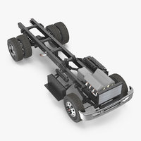 truck chassis simple engine 3D