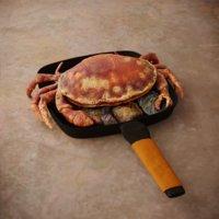 3D crab boiled model