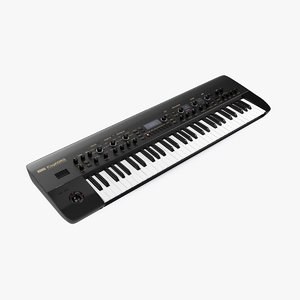 korg kingkorg synthesizer black 3D model