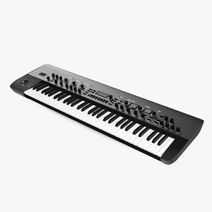 synthesizer synth keyboard 3D model