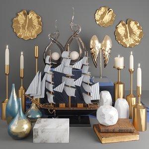 ship mural 3D model