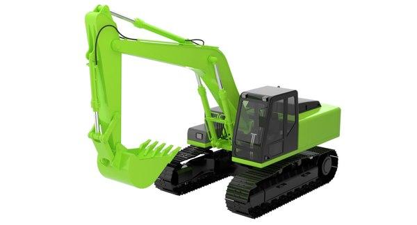 excavator digger industrial 3D model