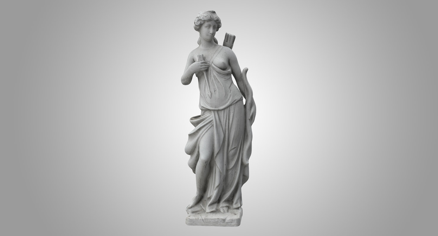 woman bow sculpture 3D