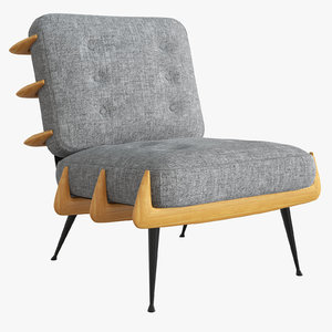 st germain lounge chair 3D