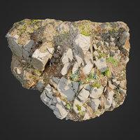 3d scanned cliff face D