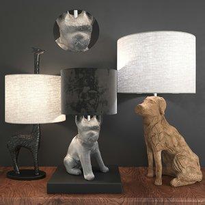 sculpture lamp 3D model
