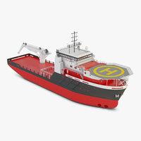 3D rescue boat model
