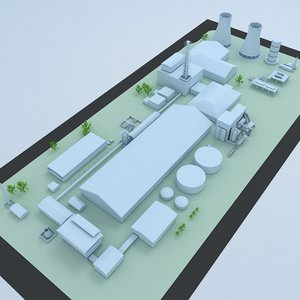 generic layout factory industrial 3D