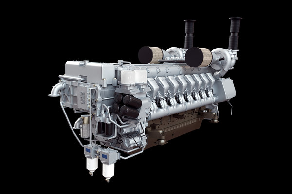 3D yacht marine engine