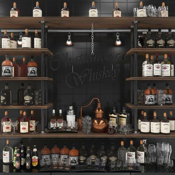 3D bar alcohol model
