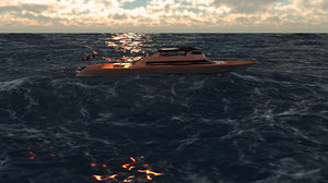3D yatch luxury