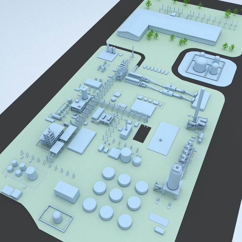3D generic layout factory industrial