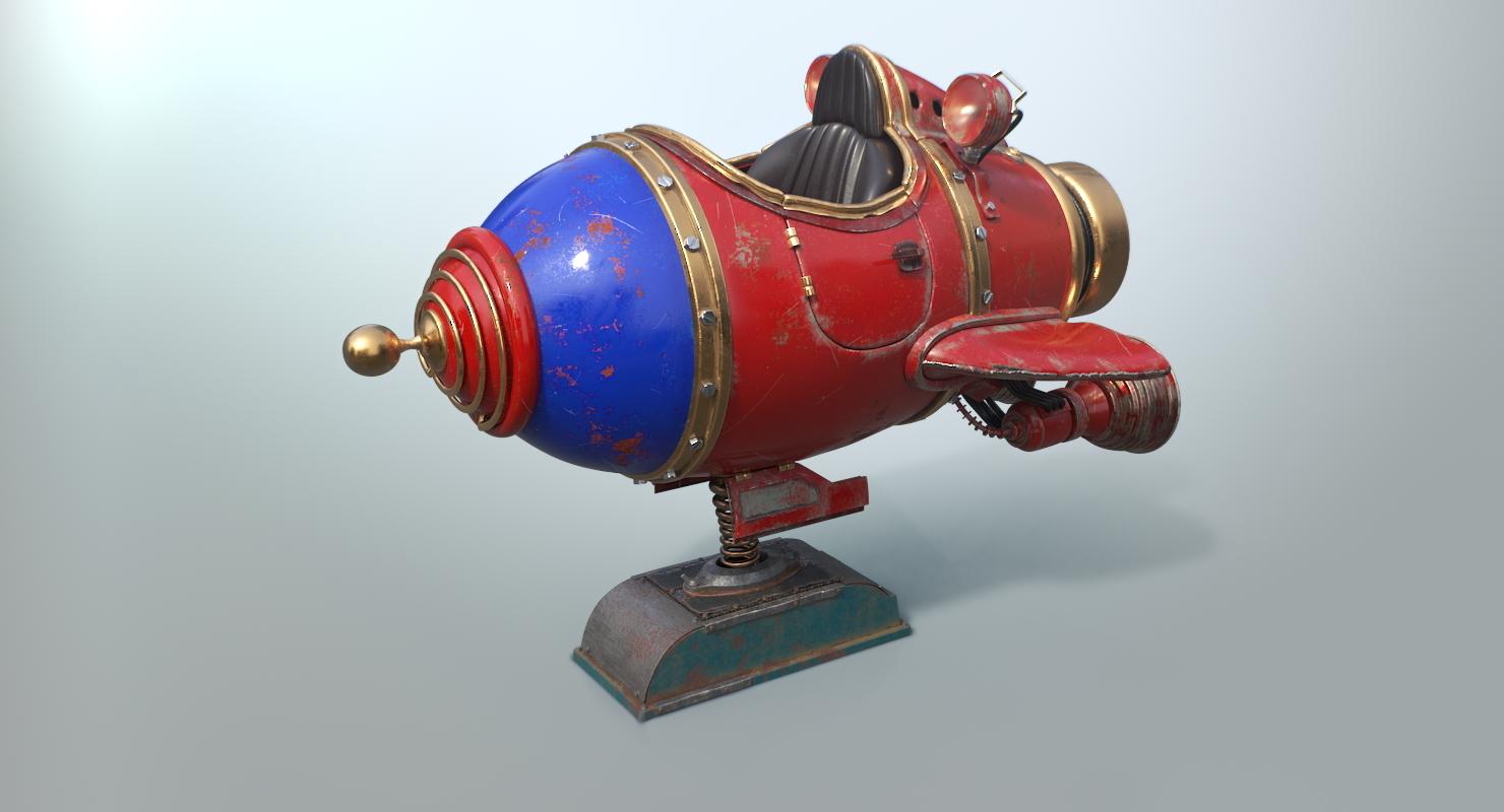 3D coin space ship s