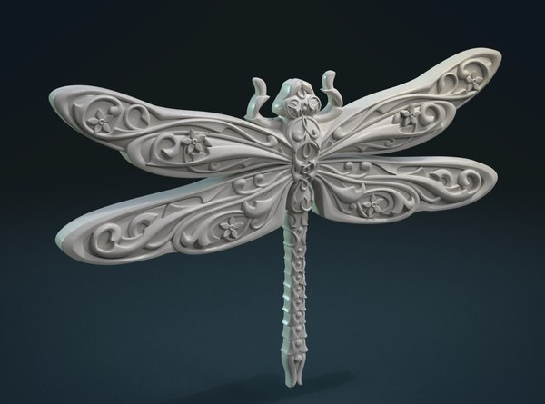 print ready dragonfly 3D model