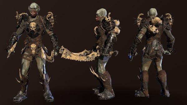 character monster berserker 3D model