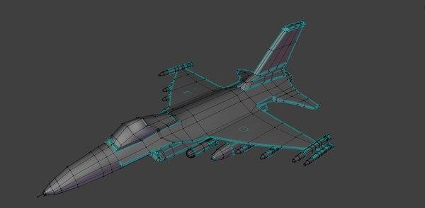 aircraft f16 3D model