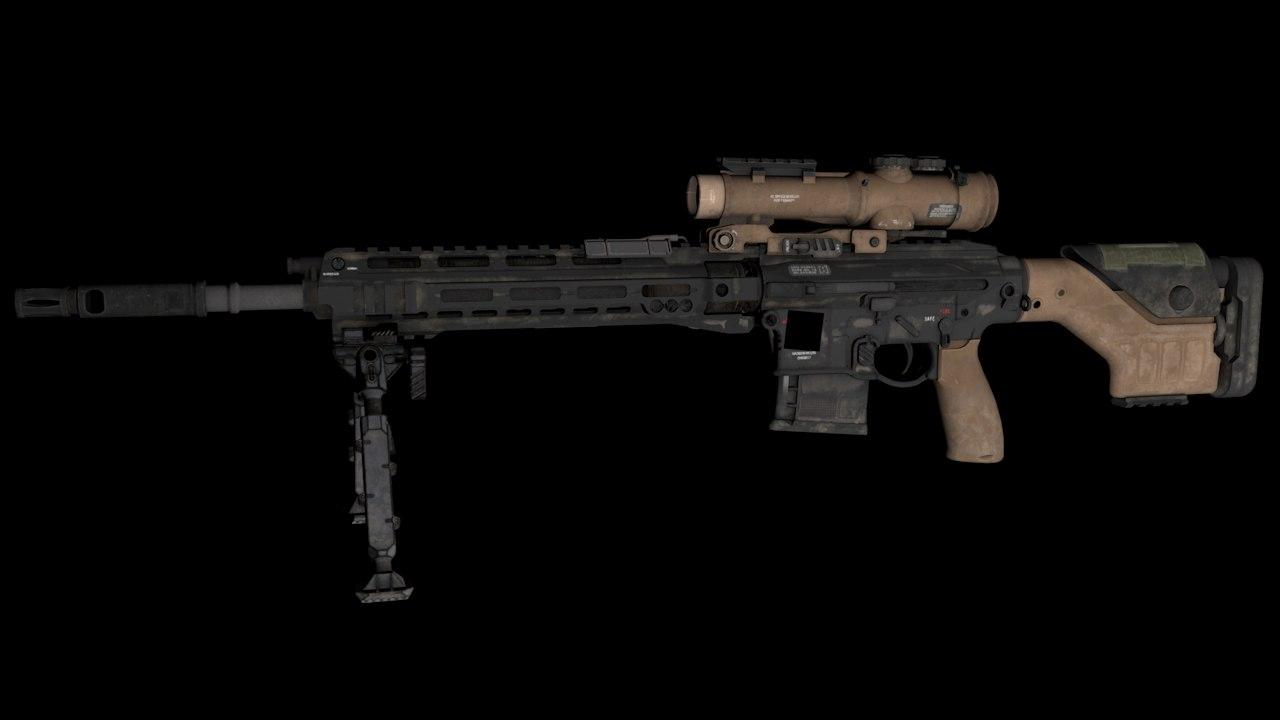3D d-25s sniper model