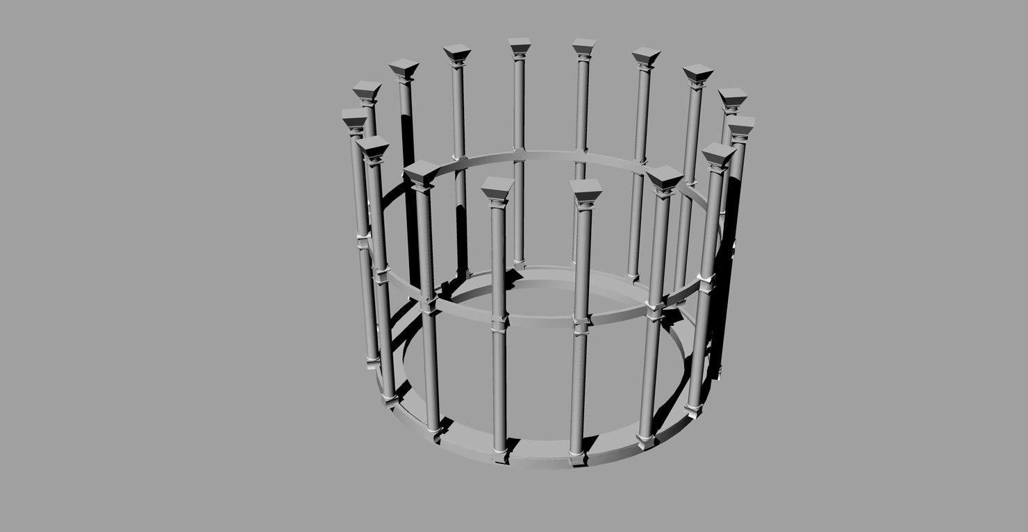 victorian gasholder 1:750 3D model