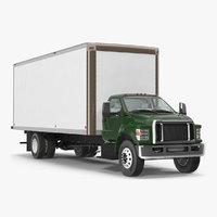 3D model box truck generic