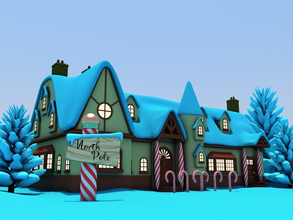 santas workshop north pole 3D model