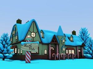 santas workshop north pole 3D model
