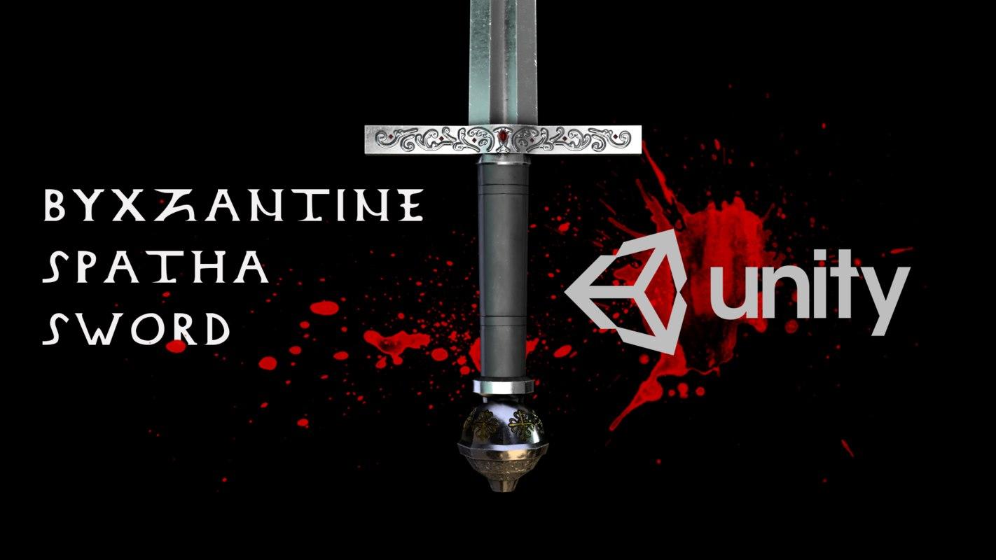 asset medieval sword byzantine 3D model