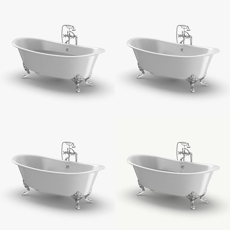 3D classical bathtub