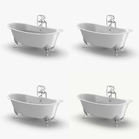 3D classical bathtub