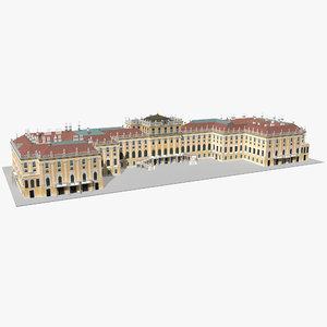 3D schonbrunn palace vienna model