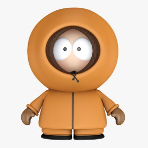 3D south park kenny cartoon boy
