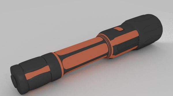 3D flashlight blender