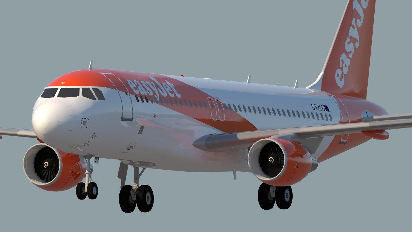 3D easyjet airlines jet