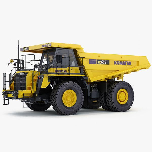3D komatsu hd605-8 rigid dump truck