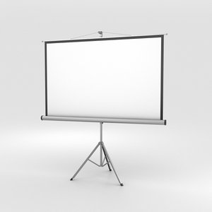 projector screen 3D model