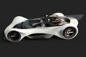 3D gt concept car