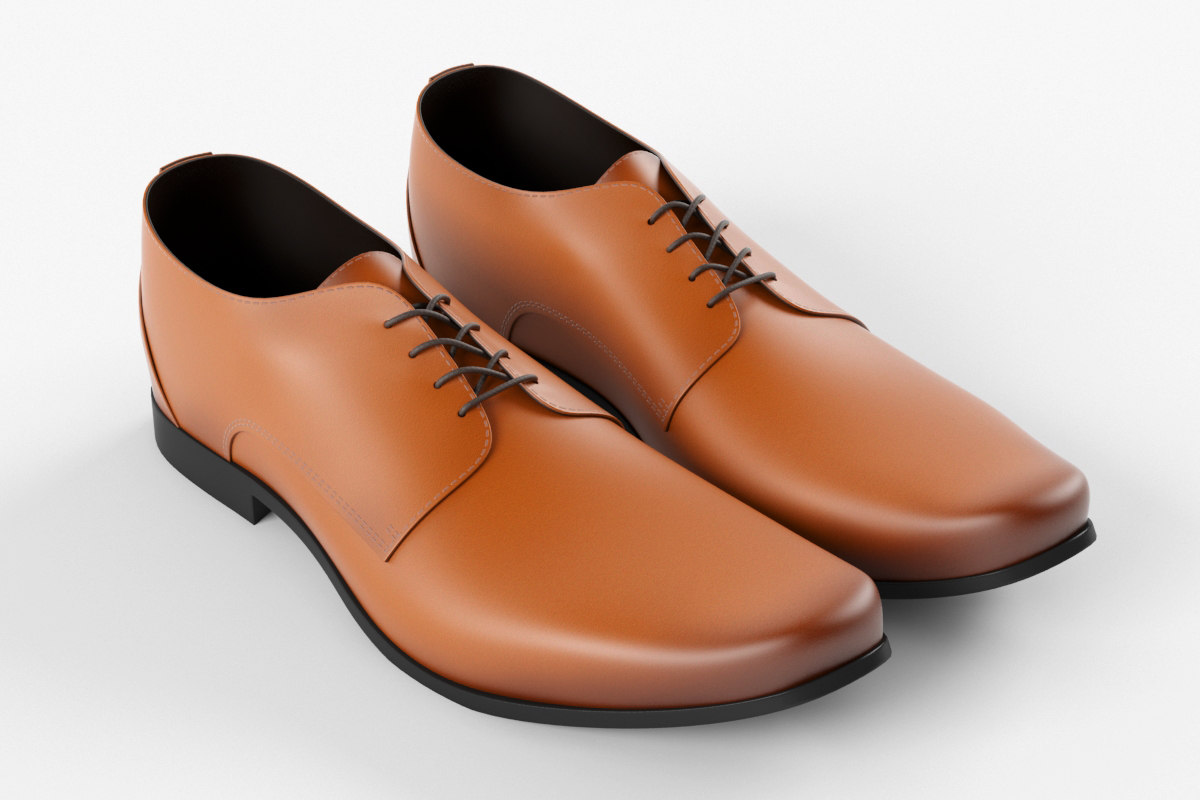 3D leather shoes