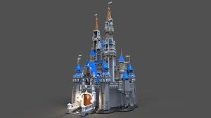 fantasy lego castle 3D model