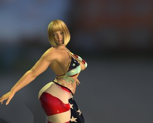 3D woman rigged