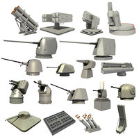 3D great naval weapon systems model