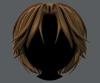 hair style boy v49 3D model