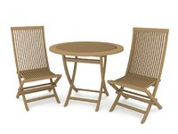 garden set furniture 3D model