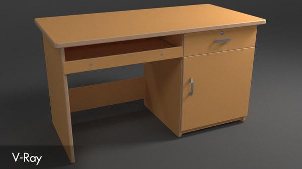 3D model work desk