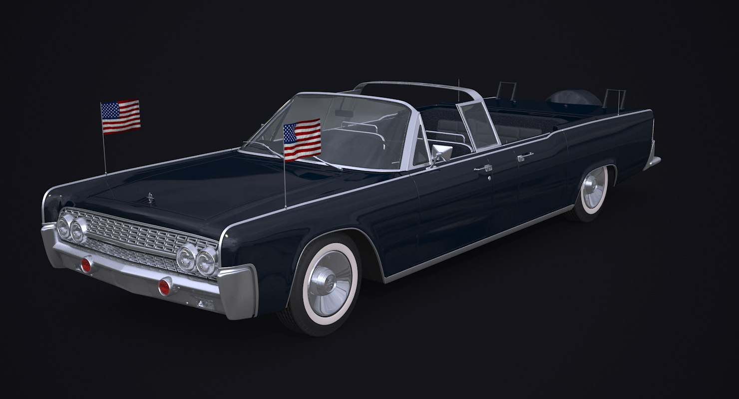 continental 61 presidential limousine 3D model